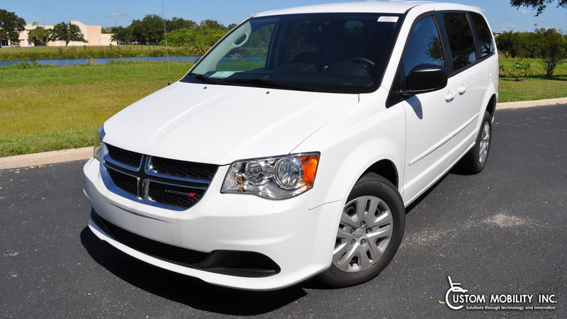 New 2017 Dodge Grand Caravan.  ConversionFR Wheelchair Vans Dodge Rear Entry
