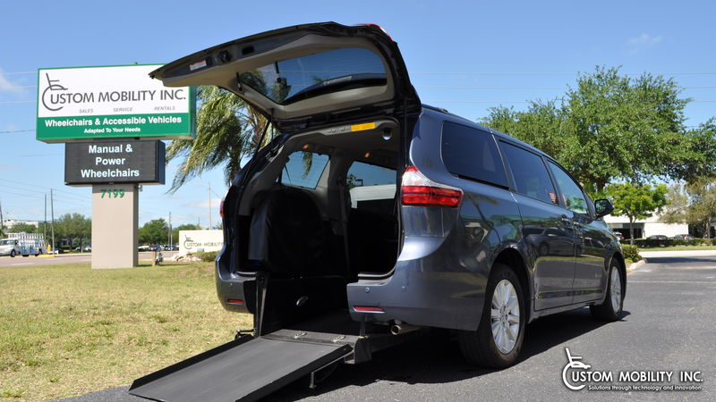 Used 2016 Toyota Sienna.  ConversionBraunAbility Toyota Power Rear Entry