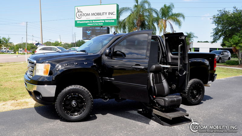 Used 2013 GMC Sierra 2500HD.  ConversionRyno Mobility Wheelchair Accessible Trucks