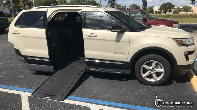 Used 2018 Ford Explorer.  ConversionBraunAbility MXV Wheelchair SUV