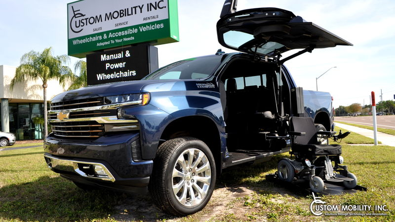 Used 2019 Chevrolet Silverado 1500.  ConversionATC Wheelchair Truck Conversions 1500 Chevy & GMC Trucks