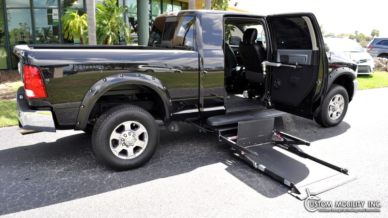Used 2017 Ram 2500.  ConversionRyno Mobility Wheelchair Accessible Trucks