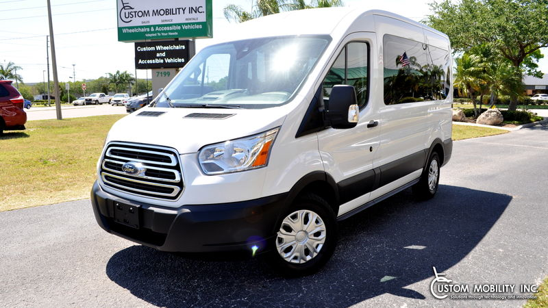 Used 2019 Ford Transit Passenger Van.  Conversion