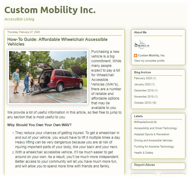 Affordable Wheelchair Accessible Vehicles