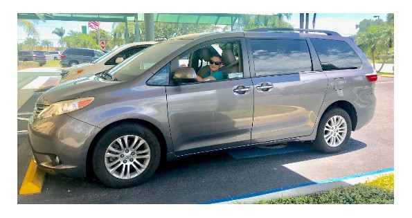 Sandi Guida and her Accessible Toyota SIenna